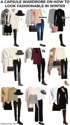 winter outfits jeans A capsule wardrobe on how to - winteroutfits Winter Outfits For Teen Girls, Winter Outfits For Work, Winter Outfits Women, Casual Winter Outfits, Winter Fashion Outfits, Autumn Winter Fashion, Fall Outfits, Winter Dresses, Fashion Dresses