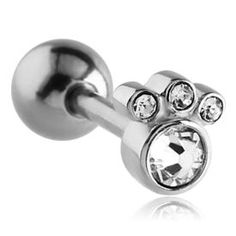 Surgical Steel Jewelled Barbell – Crystal