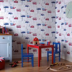 Arthouse Motor Mania Opera Fun Wallpaper in Blue - 533501