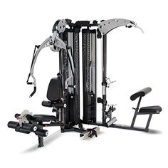 Inspire Fitness M5 Multi Gym - Fitness, Workout, Strengthen Muscle, Gym, Home, Aluminium, Revolving Lat Bar, L Shape Design, Commercial Use, Isolation Movements, Heavy Duty Tubular Steel Frame, Maintenance Free, Abdominal Bar