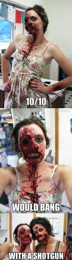 The Walking Dead,Zombie, Ugly mask,Decomposed Zombie,Dead Patient - zombie halloween ideas