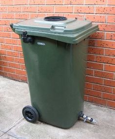 Take a plastic Wheelie bin and make it into a water gatherer to water your plants.
