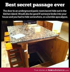 I just want it cause it's really cool... Please put one of these I. Your house!! Just I. Case you panic;)