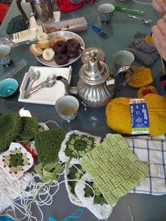 Ramon Santos elaboracion textil: última sesion Cadrados de Crochet