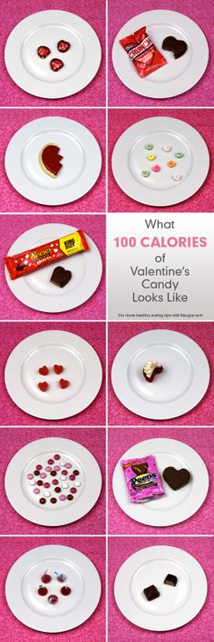 100-Calorie Pictures of Valentine's Candy... Seeing that is just going to piss me off and make me eat 1000 calories!!!