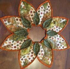 Fold n' stitch leaf