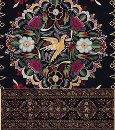 Antique Persian Textile. Very Fine Silk Embroidery on Felt, Two pieces Qajar Dynasty 1795 -1925 A.D Circa 1880