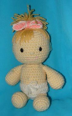 Amigurumi baby doll, sitting by Dragonlady92768