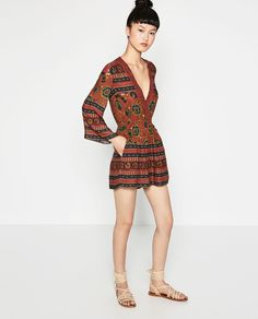 Image 1 of SHORT PRINTED JUMPSUIT from Zara