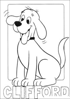 Animations A 2 Z - Coloring pages of Clifford the big red dog
