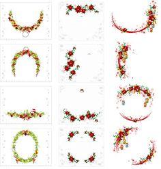 クリスマスの花輪 CHRISTMAS WREATH VECTOR イラスト素材