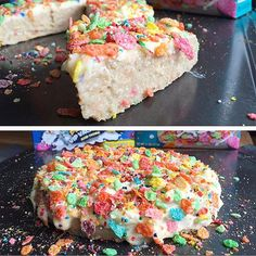 Nothing like a pre workout Fruity Pebbles Bonanaza Protein #Oatcake on my high day!  This beautiful lady was a vanilla oatcake topped with fruity pebbles cheesecake icing with cheesecake chunks in it along with some fruity ice cream pebbles and regular fruity pebbles!  Macros for the whole thang: 552 cals, 80g carbs, 8g fat, 38g protein, 10g fiber  And yes this recipe will be in the all new Flexible Dieting Lifestyle Book of Recipes 2.0 launching tomorrow at 11:00 am