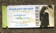 Destination Wedding Save the Date  Boarding Pass  by SZYDesigns, $25.00