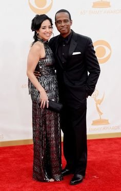 #emmyfashion Keith Powell and Jill Knox arrive at the 65th Primetime Emmy Awards at the Nokia Theatre in Los Angeles on September 22, 2013.