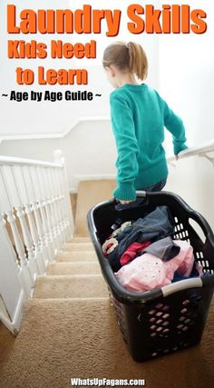 how to teach kids to do laundry - laundry skills to children - laundry chores for toddler, preschoolers, teens and more. #laundry #NewYearNewTide #chores #choresforkids #responsibility #parentingtips #parenting #instillingvalues