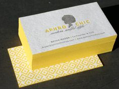 Colour edging on business cards. Gorgeous.