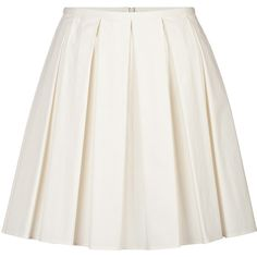RED Valentino - Stretch Cotton Pleated Skirt ($152) ❤ liked on Polyvore featuring skirts, bottoms, saias, faldas, white, day skirts, women, pleated skirt, white skirt and red valentino skirt