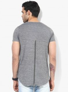 Extra Longline Tee by Tiktauli De. Corps. With Side and back Metal Zip & long scoop back