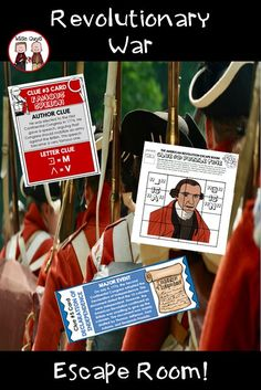 Get your upper elementary, middle school, or high school students engaged with this Revolutionary War Escape Room activity! Students will be actively involved in this Revolutionary War project where they will have to solve clues to unlock the mystery. This unit is perfect for students in 5th grade, 6th grade, 7th grade, 8th grade and up! #revolutionarywar #escaperoom 4th Grade Social Studies, Social Studies Classroom, 4th Grade Classroom, High School Classroom, High School Students, Classroom Ideas, Teacher Resources, Teaching Ideas, School Resources