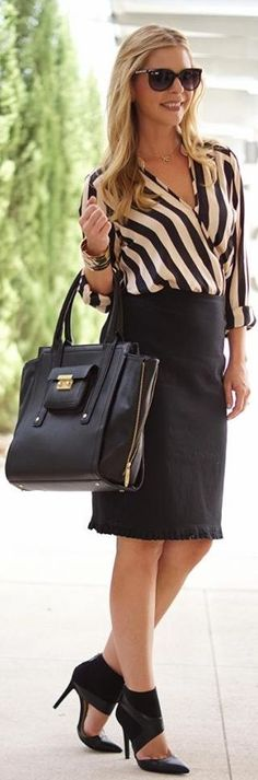 love the fringe on the skirt - great htt, professional but still with personality - excellent -- Work Wear & Wallis  by Because Shanna Said So