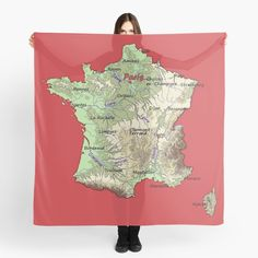 'relief map of France topographic map of FRANCE with Capitals and Major Rivers Flame Scarlet background' Scarf by mashmosh France Map, Topographic Map, Canvas Prints, Art Prints, Background S, Rivers, Scarlet, Art Impressions, Photo Canvas Prints