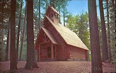 Chapel in the Pines, Hartwick Pines State Park, Grayling, MIchigan.one of my favorite places to go to and meditate and get in alignment with the Holy Spirit! Houghton Lake Michigan, Grayling Michigan, Conservation, Refuge, Michigan Travel, Cabins And Cottages, Place Of Worship, Abandoned Churches, What A Wonderful World