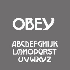 Obey #font | http://www.behance.net/gallery/Obey-Typeface/5226223