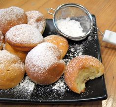 Aebleskiver! A favorite Danish food! Great for breakfast/brunch! I never heard of these but I looked them up. They are easy to make and look really fluffy and tasty!