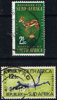 South Africa 1964 SG Rugby Board Set Fine Used SG 252 3 Scott 301 2 Condition Fine Used Only one post charge applied Canadian Coins, Old Stamps, African History, Stamp Collecting, Postage Stamps, Rugby, South Africa, Landscape Photography, Leo