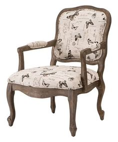 Cream Butterfly Accent Chair