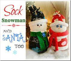 50 Cute Crafty Snowman Projects for Christmas - DIY Crafty Projects Sock Snowman Craft, Sock Crafts, Snowman Crafts, Preschool Crafts, Diy Crafts, Santa Crafts, Christmas Snowman, Kids Christmas, Christmas Gifts