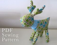 #pdf #sewing #pattern #reindeer | http://stuffedanimals243.blogspot.com