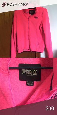 Pink Fleece Victoria's Secret PINK pink fleece jacket! Similar to a North Face fleece jacket! PINK Jackets & Coats