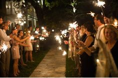 Wow! We used sparklers at our wedding, too!!:-))