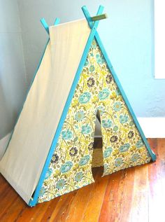 Great way to make a hiding spot for the kids.  Celesta, graphic designer, just made one this weekend for her son!  Perfect!