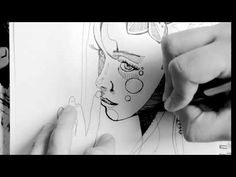 Sketch portrait ink - YouTube