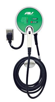 AeroVironment EVSE-RS Plug-In, a portable charger weighing 19 pounds. Ev Charger, Portable Charger, Electric Charge, News Cafe, 3d Printer Projects, Charging Cable, Charging Stations, Motorcycles, Tech