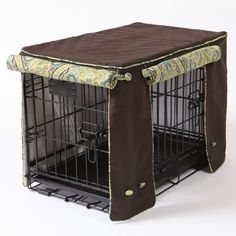 Dog crate cover sewing project. This is too cute and so handy for making a dark and distraction free den. Will embroider Sitka's name on it too. :)
