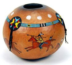 Painted Gourds for Sale   featured gourd of the month plains indian robe this gourd is an ...