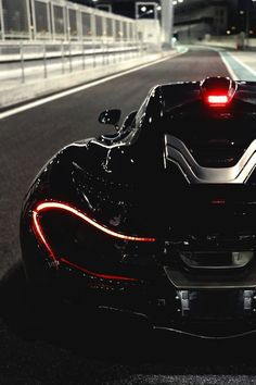 McLaren P1 | the LED taillights are invisible by day but offer attractive and ultra thin strips of light by night Smokin hot!! #McLaren