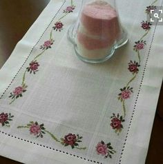 Discover thousands of images about Run table Stitch handarger Cross Stitch Borders, Cross Stitch Flowers, Cross Stitch Designs, Cross Stitching, Cross Stitch Embroidery, Cross Stitch Patterns, Embroidery Flowers Pattern, Crochet Flower Patterns, Hand Embroidery Designs