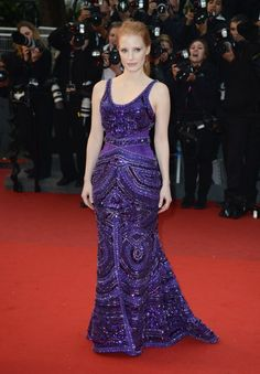 Jessica Chastain at the All Is Lost Premiere during the 66th Annual Cannes Film Festival at Grand Theatre Lumiere on May 22, 2013 in Cannes, France