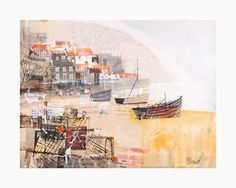 Mike Barnard Runswick Bay, Mixed Media, 10.5 x 13.5 inches