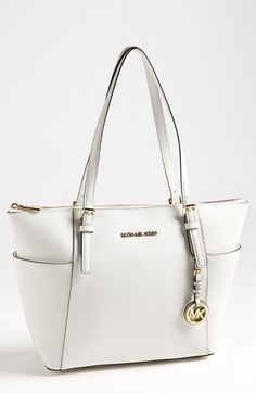 "MICHAEL Michael Kors Jet Set Leather Tote available at #Nordstrom  Thinking of getting this in color ""luggage"""