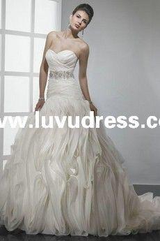 TAFFETA STRAPLESS SWEETHEART Mermaid ELEGANT 2014 A-LINE WEDDING Dress