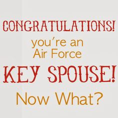 You're an Air Force Key Spouse!  Now What?!  // information for getting families involved