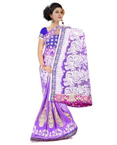 Saree Colour : Purple Blouse Colour : Blue Collection : KSS102 Saree Fabric : Pallu Brasso + Weightless Blouse Fabric : Dhupian Saree Length : 5 Meter Blouse Length : 0.90 Cm Ptticoat : Not Available Stitching: Un_Stitched Work : Embroidered Style : New Arrival Saree Season : Any Weight: 1 Kg Occasion : All Occations Fulfillment Type : Ready To Ship Wash Care : Recommends Dry Wash Only.