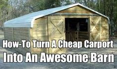 barn built with car tent images - Google Search