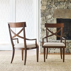 Rachael Ray Upstate by Legacy Classic X-Back Upholstered Dining Arm Chair - Set of 2 - 6040-241 KD