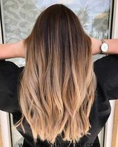 35 hot ombre hair color trends for women in 2019 - page 13 of 35 - vimd . - 35 hot ombre hair color trends for women in 2019 – page 13 of 35 – vimdecor – ombre straight h - Brown Hair Balayage, Brown Hair With Highlights, Balayage Brunette, Hair Color Balayage, Blonde Color, Fall Balayage, Brown To Blonde Ombre Hair, Balayage Straight Hair, Caramel Ombre Hair